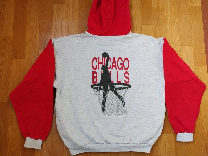 b5e0140c807 Chicago Bulls hoodie Michael Jordan NBA licensed sweatshirt | Etsy