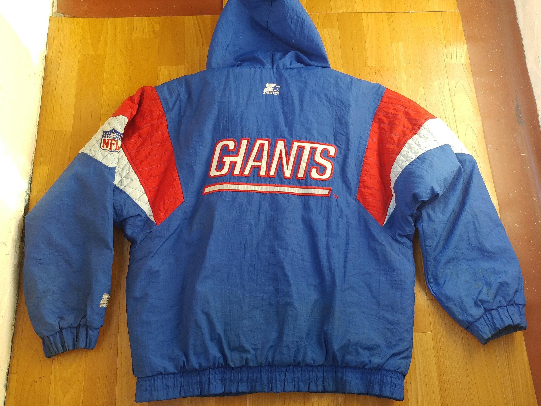 Parka Zip Nfl Vintage Veste Giants Starter New York Manteau wqxf6XPZpx