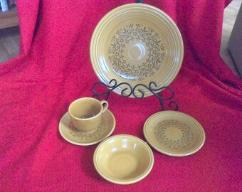 Homer Laughlin Stoneware Set, Service for 4 Coventry, Fiesta , Made in the USA
