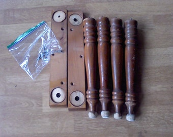 Table legs. furniture legs, set of 4, 13 1/4 inches, Mid century table legs with mounting plate