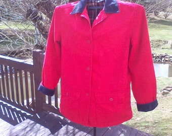 Women's jacket size Small, 100 percent cotton washable flannel lined