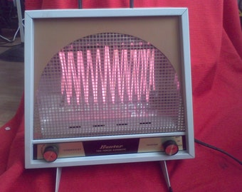 Electric Heater Portable model 33346 Hunter 1972 made in the USA Robbins & Myers Memphis Tenn