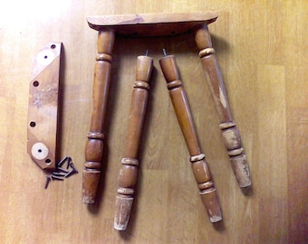 Table legs. furniture legs, set of 4, 14 inches, Mid century table legs with mounting plate
