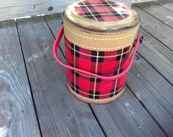 Cooler,Ice Bucket, Made in the USA, Plaid, Skotch Kaddy
