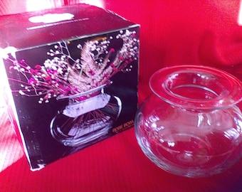 Rose Bowl, the Glass Shop, Colony, No. 4897, Design Nicholas Angelakos,  Mae in Romania, 45 oz.