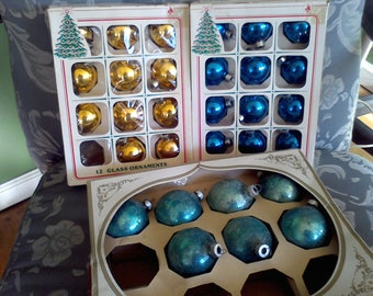 Shiny Brite Christmas Ornaments Essex Franke Company Milford CT made in the USA Christmas decor