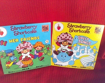 Children's Books and Records Strawberry Shortcake, Kid Stuff Records made in the USA