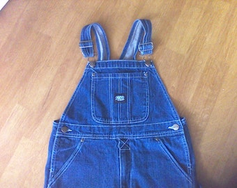 Denim Overalls ,  Children's size 12, key brand, work cloths, farm cloths, 100 percent Cotton