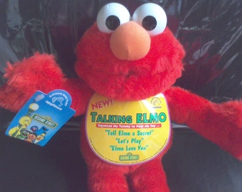 Talking Elmo Sesame Street  1997 new with tags Jim Henson Products vintage toys Tickle me Elmo
