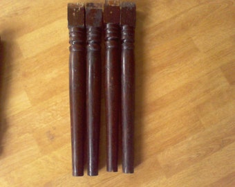 Table legs. furniture legs, set of 4, 18  inches,  table legs, solid wood, sturdy table legs