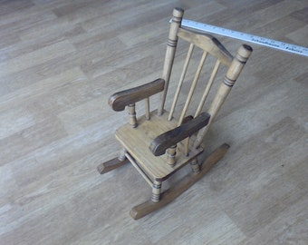 Doll House Funiture Hand made solid wood Rocking Chair