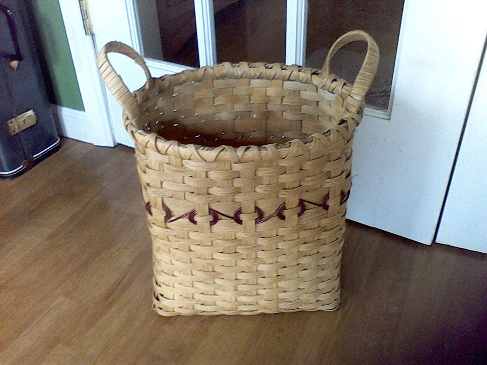 hand woven waste paper basket trash can bath room office