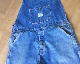 Pointer Bib Overalls, 36 waist x 29  well worn work cloths