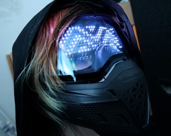 Programmable DJ mask - Wrench paintball playable mask with LED Matrix - different designs , colours and custom made possible ! - Chemion -