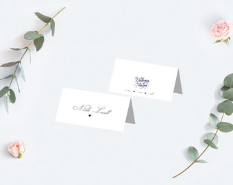 Personalised place name cards - Navy