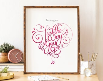 Loving you, just the way you are - Print - Valentine's Gift
