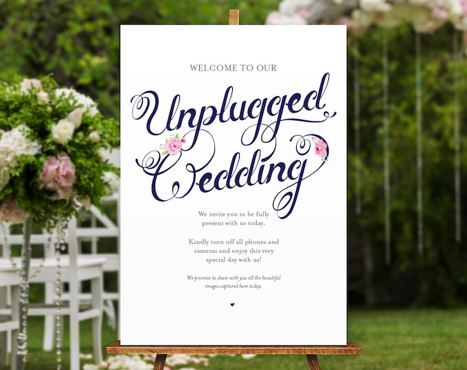 Featured listing image: Unplugged Wedding Poster