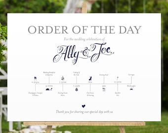 Order of the Day poster in Navy