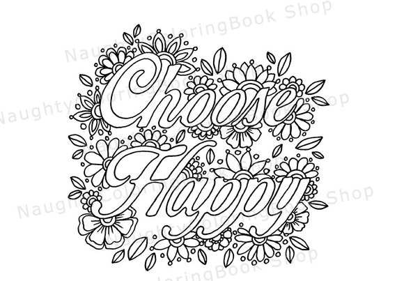 Items similar to Choose Happy | Inspirational Quote | Dorm ...