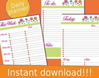 2017 Weekly Planner, Weekly Planner, Weekly Planner Printable, Printable Planner, Printable Planner Pages, Weekly Planner 2017, 2017 Planner