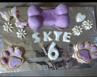 Faerytails Dog Birthday / Celebration Mini Cakes, personalised wheat free dog treats