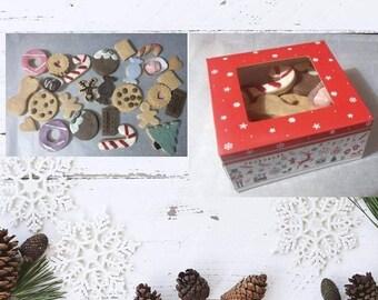 Christmas pawty box. Wheat free dog treats. Dog Christmas present. Dog party treats