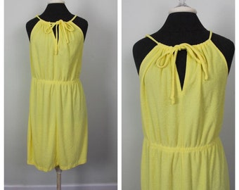 7348afa8d7 Vintage 70s Terrycloth Dress Coverup - Size L, XL