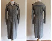 Vintage 50s Curve-Hugging Wool Dress