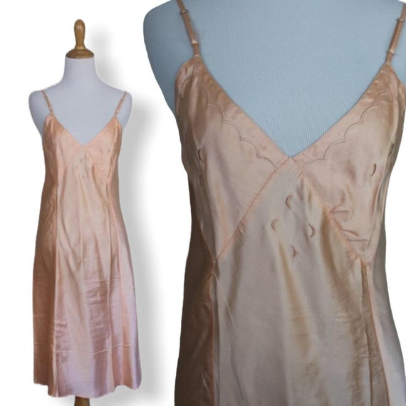 Vintage 30s 40s Moon Slip Dress - Size Small - image 5