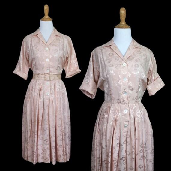 Vintage 1960s Miss Serbin Shirtwaist Dress - Size