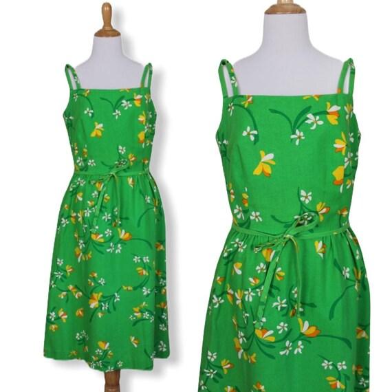 Vintage 70s Floral Malia Sundress - Size Large