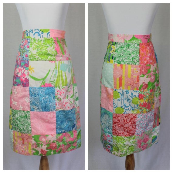 Vintage 60s Lilly Pulitzer Patchwork Skirt - Size