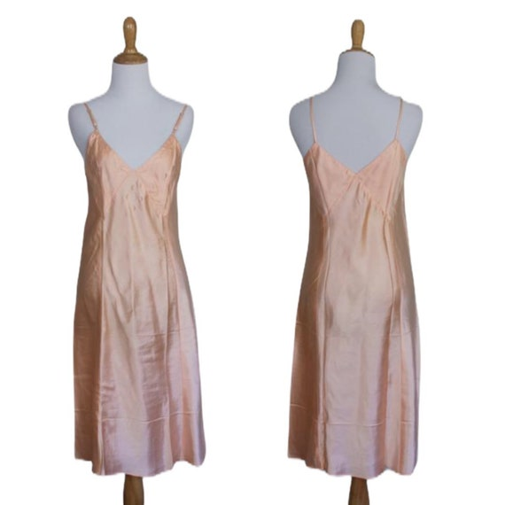 Vintage 30s 40s Moon Slip Dress - Size Small