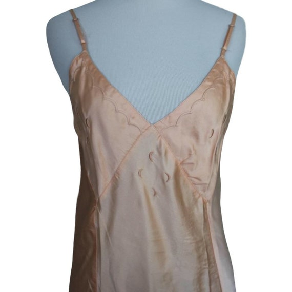 Vintage 30s 40s Moon Slip Dress - Size Small - image 6