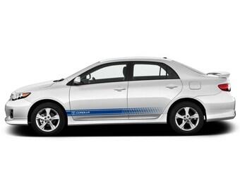 Toyota Rav4 Lower Panel Door Stripes Vinyl Graphics And