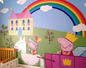 Peppa pig wall decor Etsy