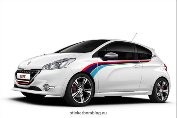 Stickers Set For Peugeot 208 Gti Rally