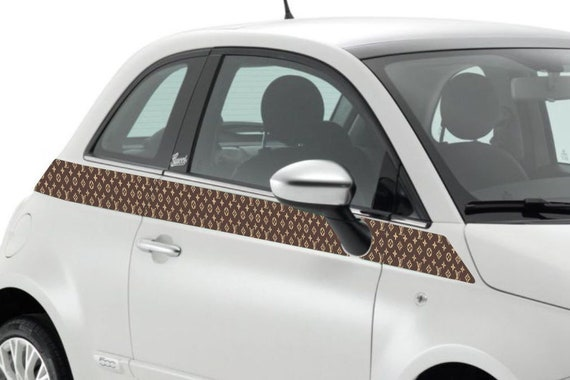 Fiat 500 Car Graphics Decals Kit Louis Vuitton Edition