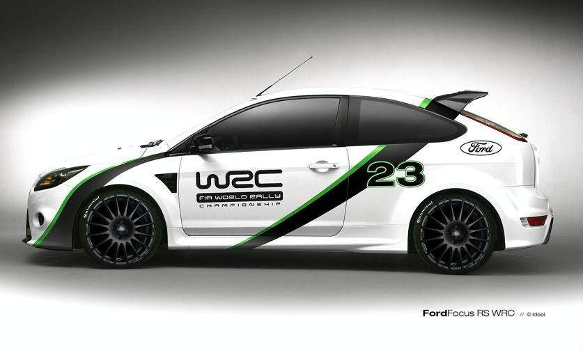 Graphic decals set ford ford focus rs wrc edition