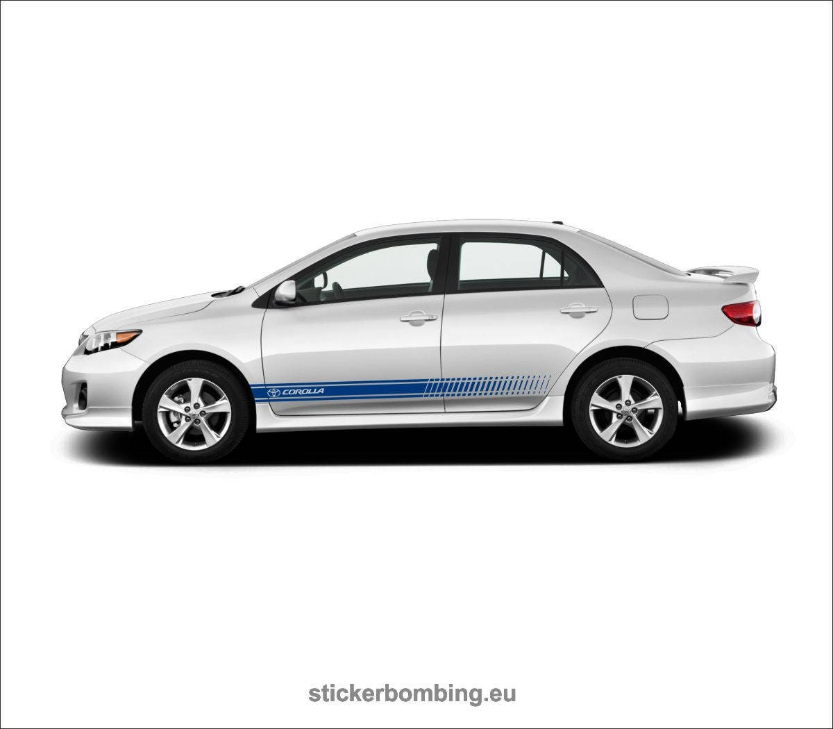 Toyota corolla lower panel door stripes vinyl graphics and decals kits 2012 1017 corolla stripes