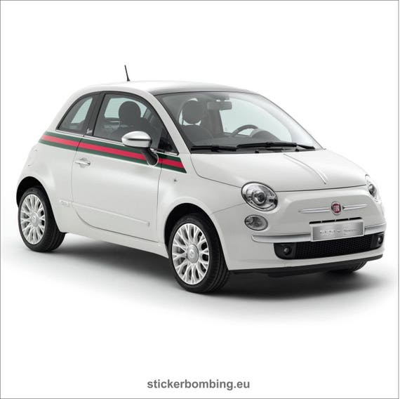 Gucci Fiat 500 >> Fiat 500 Graphics Kit Decals Gucci Edition Etsy