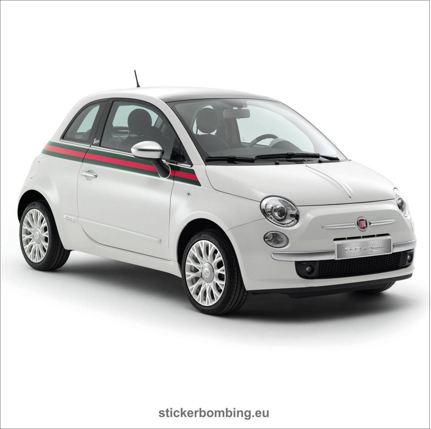 fiat 500 graphics kit decals gucci edition etsy. Black Bedroom Furniture Sets. Home Design Ideas