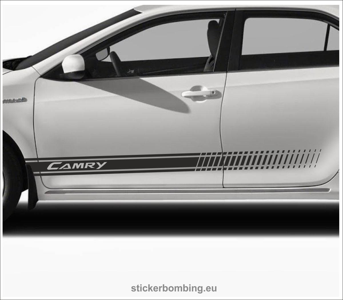Toyota camry lower panel door stripes vinyl graphics and decals kits 2012 1017 camry stripes