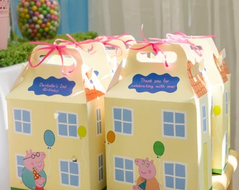 Peppa Pig House Favor Box *Read Description Before Ordering*
