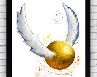 picture about Golden Snitch Printable named Golden snitch poster Etsy