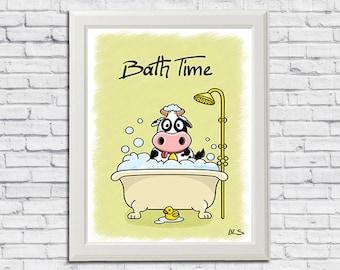 Bath Time Printable Wall Art Nursery Decor Boys Baby Boy Bathroom
