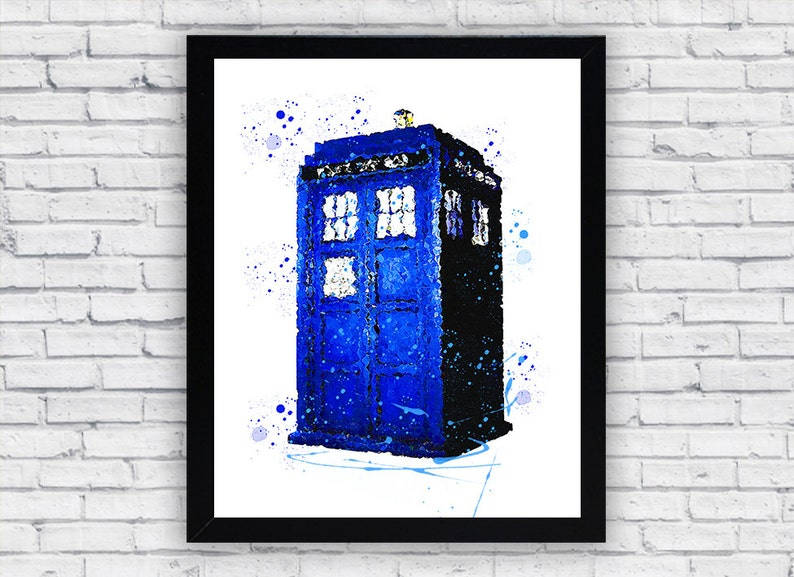 photograph about Tardis Printable referred to as Health care provider Who Tardis Watercolor Printable Wall Artwork, Health practitioner Who Tardis wall decor, Medical doctor Who Tardis printable poster