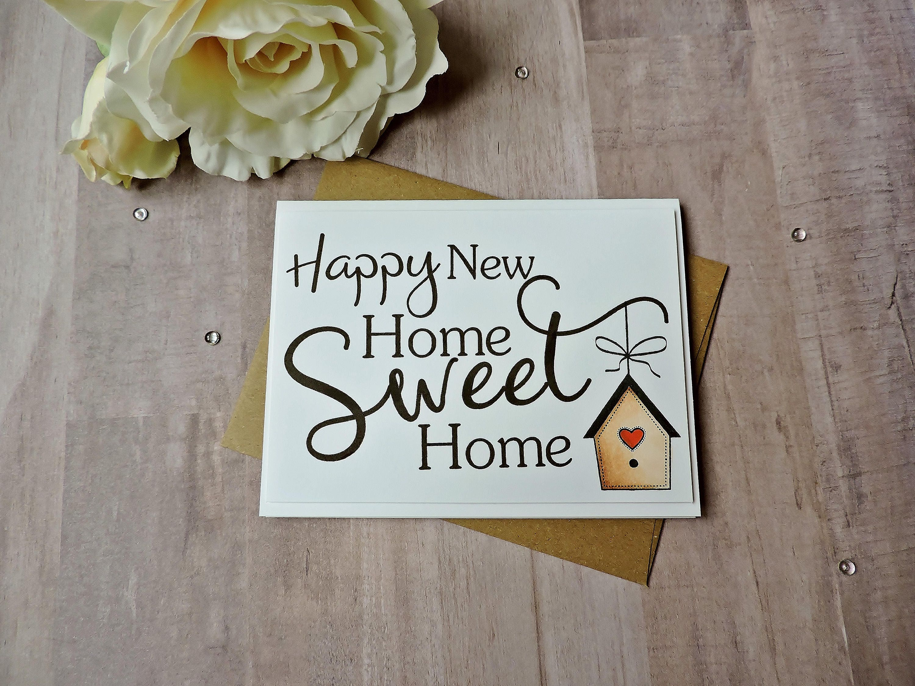 Happy New Home Sweet Home New Home Card Congratulations Card Etsy