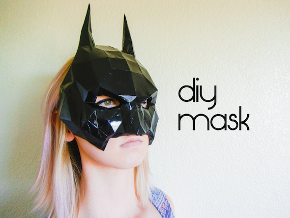 batman mask make your own with a pdf download batman etsy
