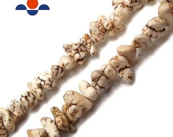 Long Strand White Chip Beads